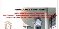 PAGE DE GARDE PROTOCOLE SANITAIRE RENTREE 2020